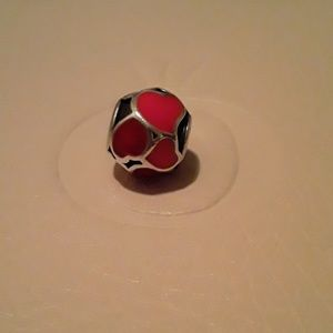 Authentic Pandora Red Hot Love Charm!